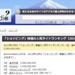 ショッピング人気サイトは「楽天市場」「amazon」「Yahoo!ショッピング」